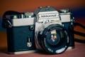 Nikkormat EL camera with Soligor Wide-Auto 35mm f/2.8