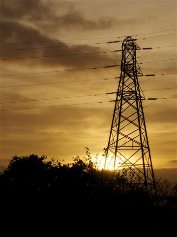 Pylon at Sunset