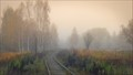 In the misty pastel colors of autumn