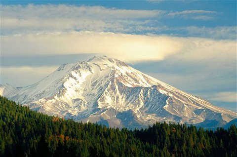 Mount Shasta, California.