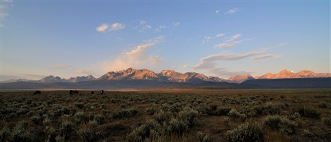 Sawtooth Sunrise Moonset
