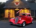 34 Ford Coupe at Texaco
