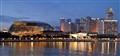 Singapore - view over Marina Bay at night