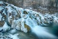The flowing frozen