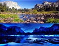 Yosemite: SummerDay/WinterNight