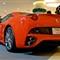 Ferrari, rear viewed