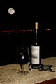 New moon and wine