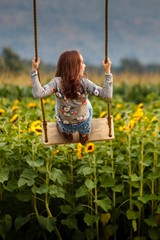 Swinging With The Sunflowers
