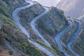 Abstract photo-curve- Silk route-connecting India-