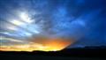 Fan-Shaped Sunset