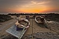 Ko Lanta sunset with boats