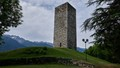 Medieval lookout tower at high altitude