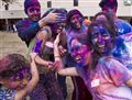 Kids having fun during Holi celebration