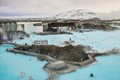 Blue Lagoon thermal springs near Reykjavik in winter