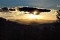 Sunset shaded hills