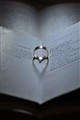 Ring reflection of love on paper
