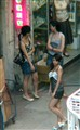 Typical scene in red light district Hong Kong
