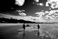 walk down a beach