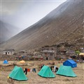 Camping on Trek, Samdo Village (3,690 m), Manaslu Region, Nepal