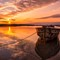 1000 pixel Golden Pine Point Sunset Boat