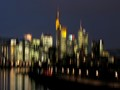 Frankfurt Skyline with River Main; intentionally shaked camera