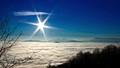 Fog above city Kranj - Slovenia