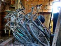 Broken bicycles in the attic