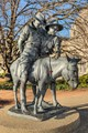 Simpson & his donkey with rescued Anzac