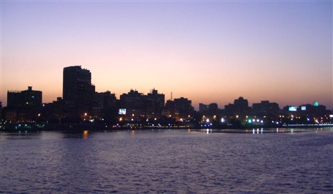 Cairo sundown over the Nile