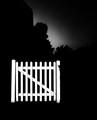 Gate in darkness