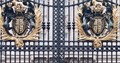 these crest of gate's Buckingham Palace, UK