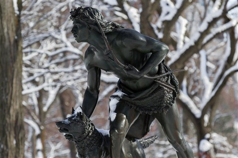 "Central Park NYC - ""Indian Hunter"" 1869 Placed in Park"