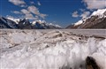 Inyltchek Glacier in Tien Shan mountains