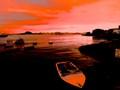 Pink dawn in Guanabara Bay
