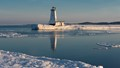 April in Ludington, Michigan - Reflection in Receding Ice