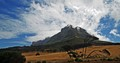 Not far from the city but giving another view of table mountain.