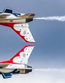 Air Force F16's inverted