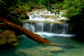 The waterfall in Kanchanaburi, Thailand