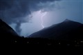 Thunderstorm in the mountains