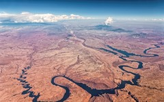 The Colorado River and Henry Mountains, Utah