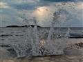 Splash on the beach