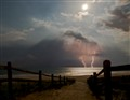 Beach lightning