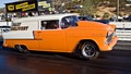 1955 Chevy Sedan Delivery, at the drag strip, running NOS