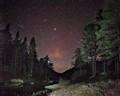 Shooting star above Grytdalen, Telemark, Norway