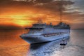 Cruise ship,Mykonos Greece.