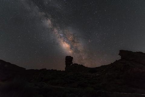 Milky Way over Roques de Garcia