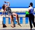 On the promenade of Otranto.