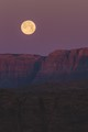 bright moon over canyons