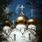 Domes in Yaroslavl, Russia
