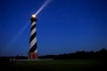 Hatteras Lighthouse with beam at night